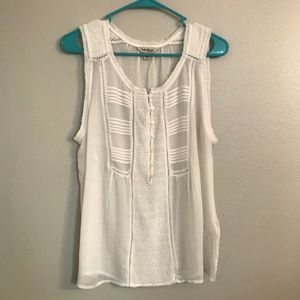 Delicate cream tank with cute details